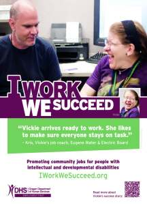 Vicki's I work we Succeed poster